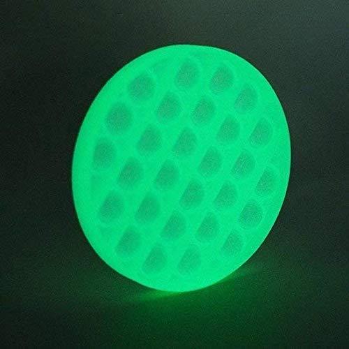 LEUCHTEND Fidget Toy Pop It - geprüft kinderfreundlich Magic Push Bubble Ablenkung bei Stress Nervosität Popit Sensory Spielzeug Sensorisches Zappeln Fidgets Antistress GLOW IN THE DARK (grün/rund)