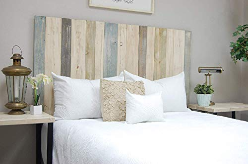 Farmhouse Mix Headboard California King Size, Hanger Style, Handcrafted. Mounts on Wall. Easy Installation