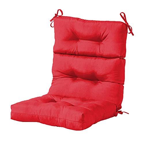 XHNXHN Cuscini per sedie, 110x55cm Cuscino per Sedia in Rattan con Schienale da Giardino in Tinta Unita con Fasciatura Tatami Cuscini per sedili accoglienti Decorazioni per la casa del Ristorante (