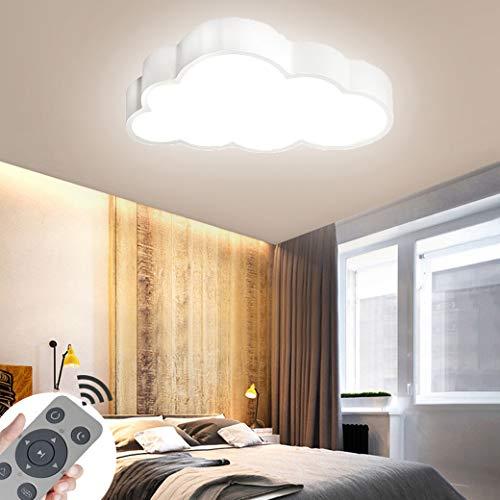 CASNIK 64W Luces de techo Nubes Regulable Lámpara de techo ultradelgada LED ultradelgada Lámpara de la sala de estar del dormitorio de la cocina (Blanco-64W Regulable)