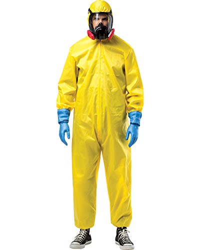 Rasta Imposta Breaking Bad Costume Hazmat Suit, Yellow, One Size