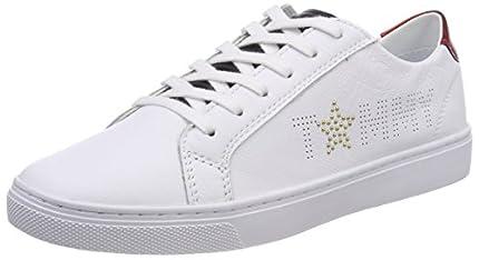 Tommy Hilfiger Tommy Star Metallic Sneaker, Zapatillas Mujer, Rojo (RWB 020), 40 EU