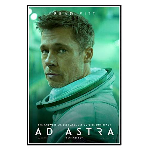 Yoopa Ad Astra película Brad Pitt Tommy Lee Jones carteles artísticos pintura impresión sala de estar decoración del hogar -50X70 CM sin marco 1 Uds