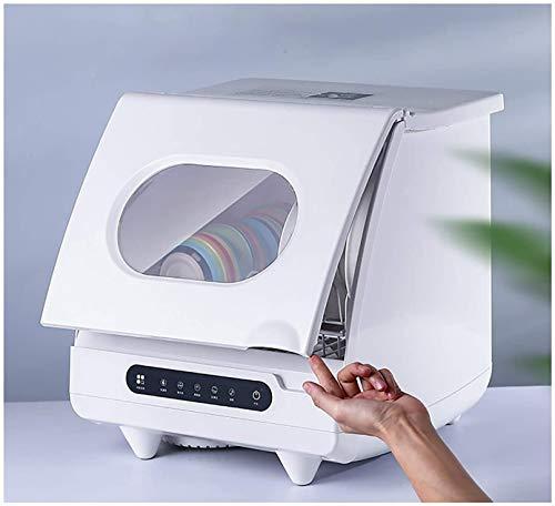 Inteligente automático Mini lavavajillas doméstico, 5 Programas de mesa Lavavajillas 1200W 360 ° vegetales de frutas Limpio, 1 cestas, el panel de tacto, diseño compacto y pequeño, 5 Programas