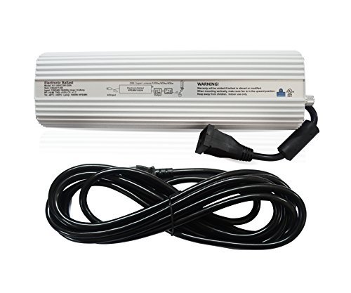 Hydro Crunch NC02A011400 1000W HPS MH Digital Dimmable Ballast for Grow Lights
