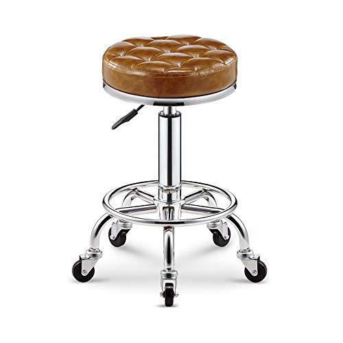 FENPING-Barstühle Barhocker Simple Lattice Bar Spa Salon Massagegerät Manikürhocker Glossy Polster Lounge Stuhl (Color : Brass)