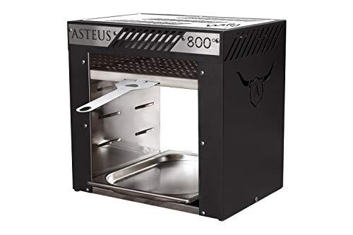 Asteus 4260293725370 800 Grad Infrarot Elektro Grill, Schwarz, Silber, 38 x 22 x 37 cm