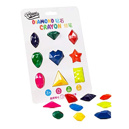 Toddlers Crayons Palm-Grip Crayons,9 Colors Paint Diamond Crayons easy drawing Toys for Kids