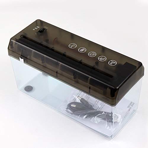 Trituradora eléctrica trituradora portátil de papel portátil de la trituradora de batería USB Documentos de la trituradora de papel herramienta de corte para el hogar para el aula para adultos