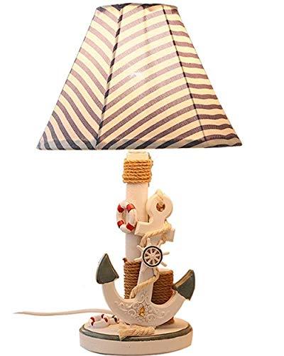 RXM creatieve tafellampen in de slaapkamer voor kinderen decoratief cadeau ter bescherming van de zijkant van het bed van kunsthars met mediterrane oog [energieklasse A+] (kleur: A)