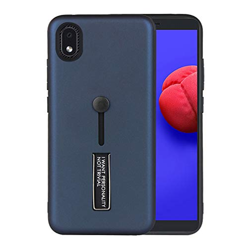SULIAN Funda para Samsung Galaxy A01 Core, Suave TPU Bumper Antichoque Kickstand Funda para Samsung Galaxy A01 Core 5.3' - Azul