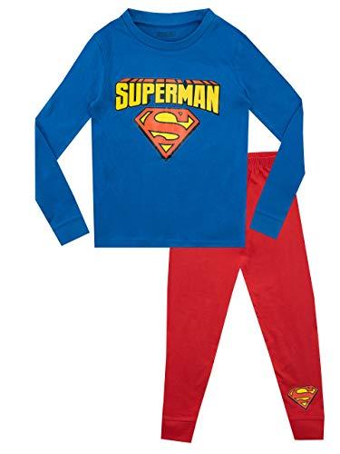 DC Comics Pijamas de Manga Corta para niños Ajuste Ceñido Superman Azul 2-3 Años