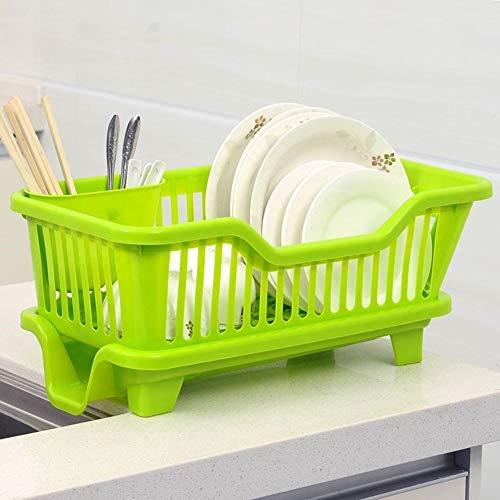 Micaza Sink Side Gericht Wäscheständer Mit Abflussplatine, Kunststoff Dish Drainer Rack Und Tray Set Große Kapazität Dish-Rack Küche-veranstalter-b Klein