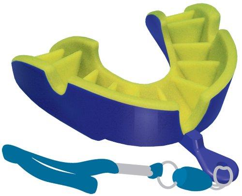 Opro Silver Zahnschutz (Strapped) Dark Blue - Yellow