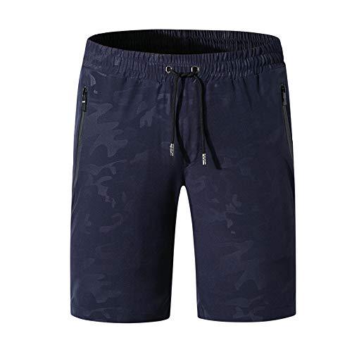 Aiserkly Quick Dry Cargo - Pantalones Cortos de Trabajo para Hombre (con Bolsillos con Cremallera) Azul Oscuro 6XL