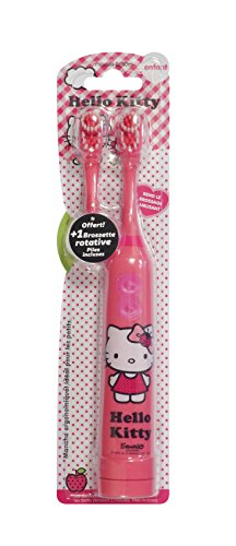 Tinokou Hallo Kitty Kinder elektrische Zahnbürste. Mit Ersatzkopf und Batterien für den ersten Betrieb inklusive