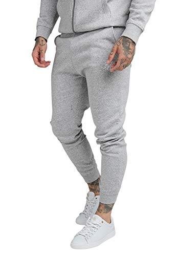 Sik Silk CORE Muscle FIT Jogger SS-18901 Grey Marl - Pantalones de chándal para hombre, color gris gris S