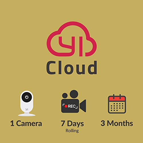 YI/Kami Cloud Plan 3 Month, 1 Camera, 7d rolling storage service [PC/Mac Online Code] Security