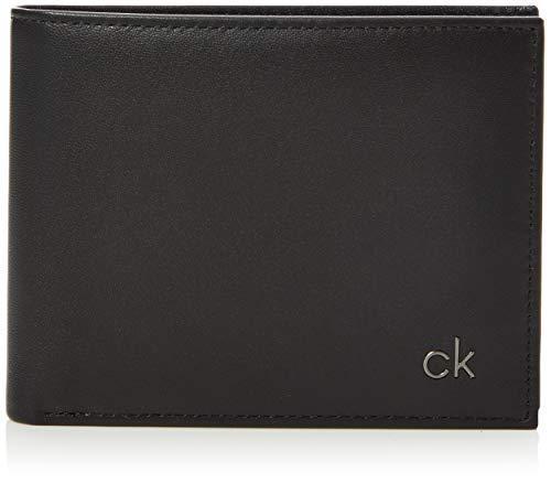Calvin Klein - Smooth CK 5 CC Coin, Monederos Hombre, Negro (Black),...