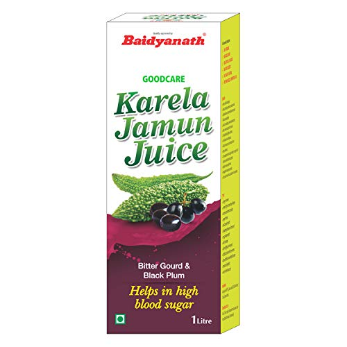 Baidyanath Karela Jamun Juice - Helps Maintain Healthy Sugar Levels - 1L