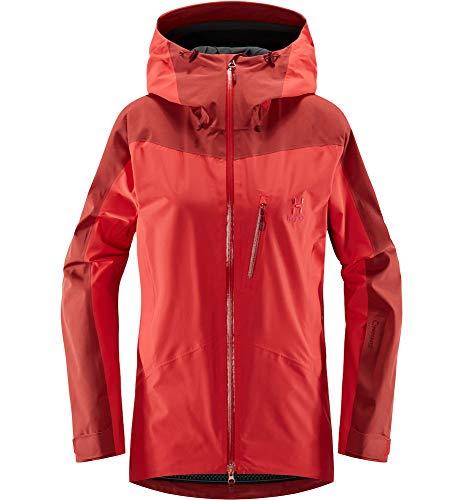Haglöfs Skijacke Frauen Skijacke Niva Wasserdicht, Winddicht, Atmungsaktiv Hibiscus Red/Brick Red M M - Empty for carryovers -