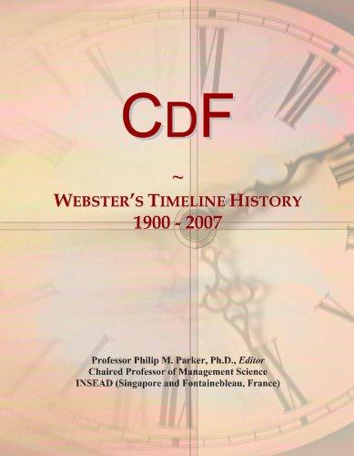 CdF: Webster's Timeline History, 1900 - 2007