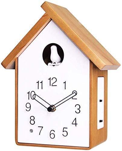 RUIXINBC Montado En La Pared La Casa del Pájaro del Reloj De Cuco Diseño Moderno Reloj De Cuco De Madera Sólida Reloj De Cuco Decoración del Reloj De La Sala De Estar