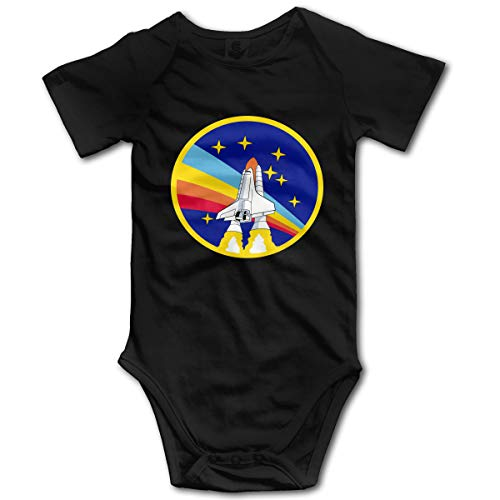 U are Friends Nouveau-né GILR Boy Rainper Rocket Baby Kids Barboteuse Infant Toddler(6M,Noir)