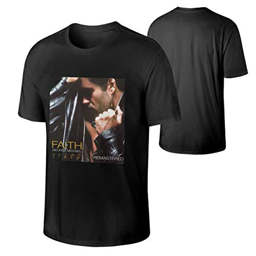 Mans George Michael Faith Remastered Edition Music Band Cycling Tshirts L Gift Black