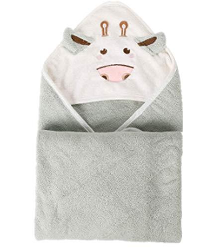 Toalla de baño para bebé, toalla con capucha-100% fibra de bambú toalla para bebé-80cm x 80cm-bebé o niño y niña (marrón)