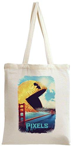 Pixels Pac Man Tragetasche