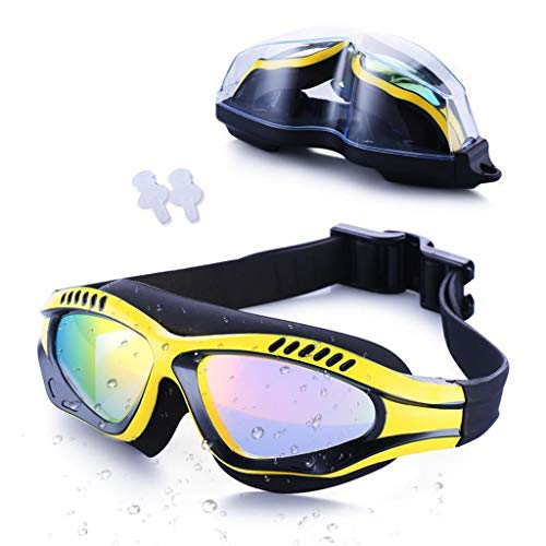 BAOFI Adult Swimming Goggles, Best Swim Glasses, Free Protection Case, Anti Fog, UV Protection, Plating, Waterproof, HD Lens, Triathlon Equipment, Men, Women, Youth Kids Child