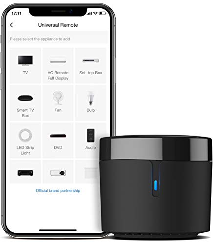 BroadLink Smart Home Hub-WiFi Remote Control IR Blaster for Smart Life Home Automation, TV Remote, Works with Alexa, Google Home, IFTTT (RM4 Mini)