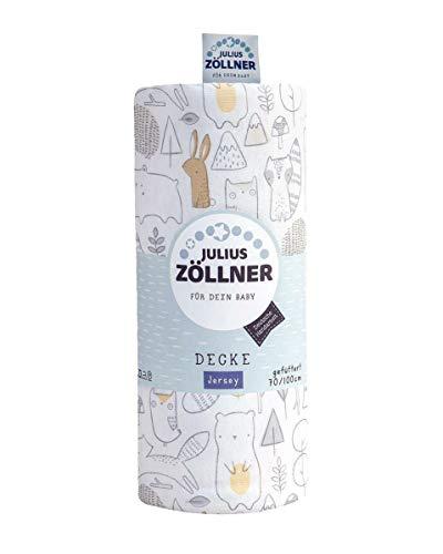 Julius Zöllner Jersey Kuscheldecke Decke gefüttert 70/100 cm Forest
