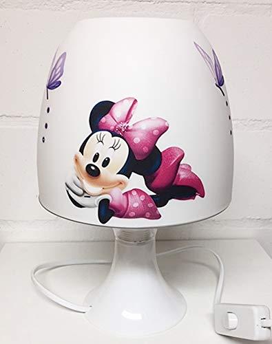 ✿ Tischlampe ✿ MINNIE MOUSE Minnie Maus personalisiert mit oder ohne Name ✿ Tischleuchte ✿ Schlummerlicht ✿ Nachttischlampe ✿ Lampe ✿