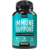 Immune Support - Immunity Boost Supplement with Elderberry, Vitamin C, Echinacea & Zinc - Once Daily Immune System Booster for Adults - 60 Capsules