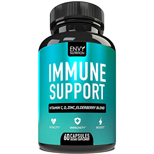 Immune Support - Immunity Boost Supplement with Elderberry, Vitamin C,...