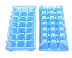 commercial Stackable mini ice cube trays for Camco mini refrigerators, mobile homes / ships, small dorm freezers (2… mini ice cube trays
