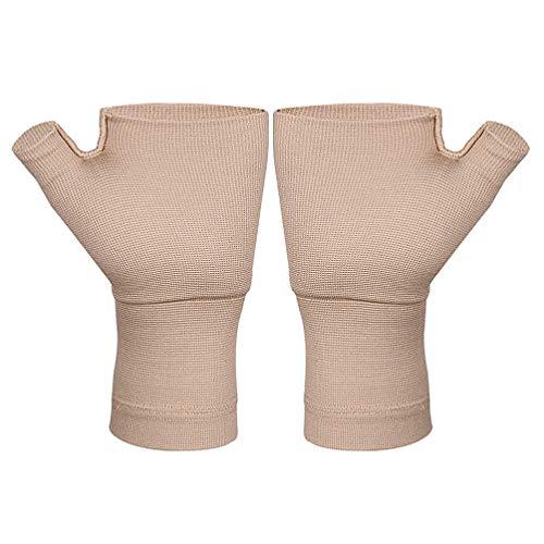 Healifty 1 Paar Arthritishandschuhe Fingerlose Kompressionshandschuhe Daumen Handgelenkstütze für Arthritis Karpaltunnel Schmerzlinderung für Frauen Männer (Größe S)