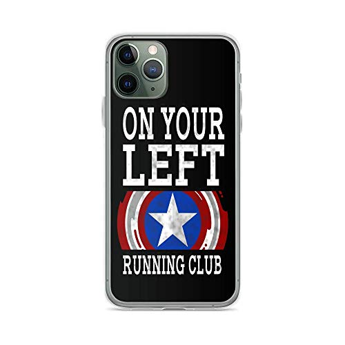 Phone Case N Your Left Running Club Compatible with iPhone 12/12 Pro MAX 11 Pro MAX 12 Mini XR X/XS XS MAX SE 2020 7/8 Plus 6/6S Plus