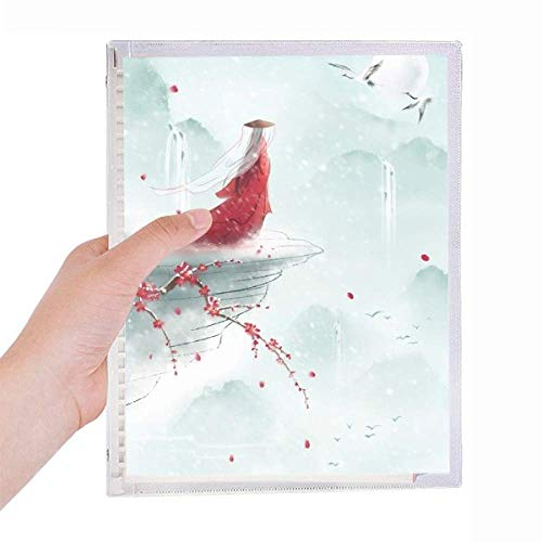 Sealed with a Kiss Chinese Watercolor Notebook Loose-leaf Spiral Refillable Journal