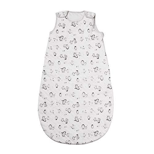 Nuby Steppschlafsack, gesteppt, für Babys von 0 bis 6 Monaten, Motiv Pinguin, 2,5 Tog