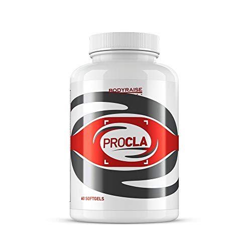 Bodyraise ProCLA 60 Cápsulas Blandas - Suplemento para Quemar Grasa y Perder Peso - Estimula el Sistema Inmune, la Masa Muscular y la Definición Corporal - Propiedades Antioxidantes - 20 Dosis