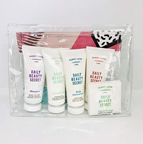 Paquete de regalo de belleza Champú, gel de baño, acondicionador, crema hidratante y jabón de Guest Love Made in Italy