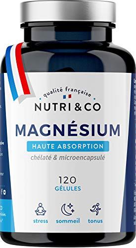 Magnesium Végétal & Vitamine B6 Bioactive | Malate & Liposome de Magnésium | Absorption Supérieure au Bisglycinate & Teneur Egale au Magnésium Marin | 300mg/j 120 Gélules Made in France | Nutri&Co