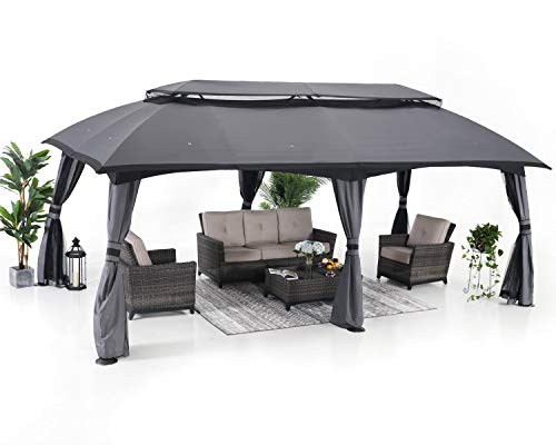 ABCCANOPY Gazebo 10x20 Patio Gazebo, Double Soft-top Garden Gazebos...