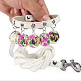 <span class='highlight'><span class='highlight'>DLFALG</span></span> Pet Supplies Spring And Summer New Crisp Flower Bells Pet Dog Collar Traction Rope Set Outdoor Dog Chain Dog Rope 1 * 120Cm White S Code