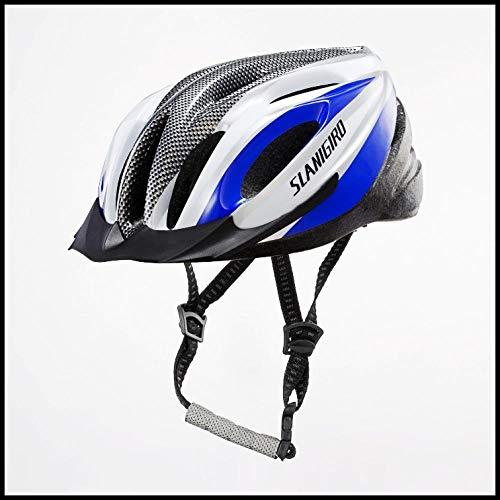 Fahrradhelm Reithelm Rollschuhlaufen verstellbarer Kopfumfang Helm Schlittschuhe Roller Außenhelm Sicherheitsblau