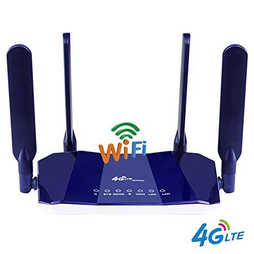 JSX 4G LTE CPE-router, 300Mbps CAT4 draadloze CPE-router ontgrendelde wifi-router 4G LTE FDD Rj45 ports & simkaartsleuf tot 32Users