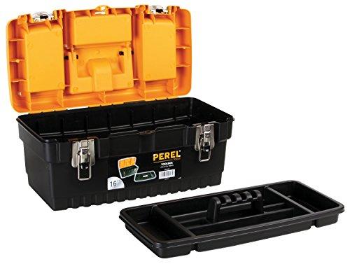 Perel OM16M Werkzeugkoffer mit Metallschlössern, 16″ Länge - 2